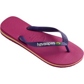 havaianas Brasil Logo Flips Kids raspberry rose/new purple